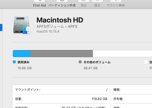 Mac ディスクユーティリティ